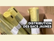 DISTRIBUTION DES SACS JAUNES LE 20 AVRIL 2021