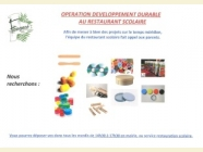 OPERATION DEVELOPPEMENT DURABLE AU RESTAURANT SCOLAIRE